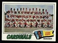 St. Louis Cardinals Team Checklist (Vern Rapp) [GD+]