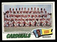 St. Louis Cardinals Team Checklist (Vern Rapp) [EXMT]