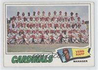 St. Louis Cardinals Team Checklist (Vern Rapp)