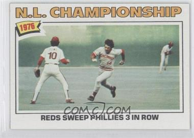 1977 Topps #277 - N.L. Championship: Reds Sweep Phillies 3 In Row