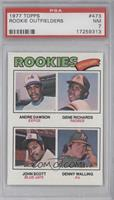 Andre Dawson, Gene Richards, John Scott, Denny Walling [PSA 7]