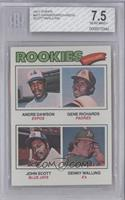 Rookie Outfielders (Andre Dawson, Gene Richards, John Scott, Denny Walling) [BG…