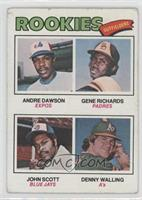 Rookie Outfielders (Andre Dawson, Gene Richards, John Scott, Denny Walling) [Go…