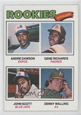 1977 Topps #473 - Rookie Outfielders (Andre Dawson, Gene Richards, John Scott, Denny Walling)