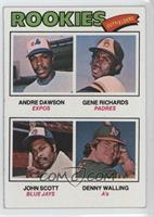 Rookie Outfielders (Andre Dawson, Gene Richards, John Scott, Denny Walling)