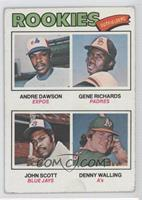 Rookie Outfielders (Andre Dawson, Gene Richards, John Scott, Denny Walling) [Po…