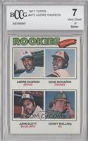 Rookie Outfielders (Andre Dawson, Gene Richards, John Scott, Denny Walling) [EN…