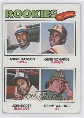 1977 Topps #473 - Rookie Outfielders (Andre Dawson, Gene Richards, John Scott, Denny Walling)
