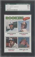 Rookie Outfielders (Andre Dawson, Gene Richards, John Scott, Denny Walling) [SG…
