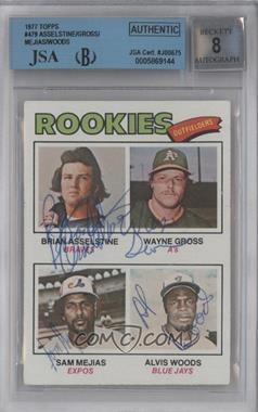 1977 Topps #479 - Rookie Outfielders (Brian Asselstine, Wayne Gross, Sam Mejias, Al Woods) [BGS/JSACertifiedAuto]