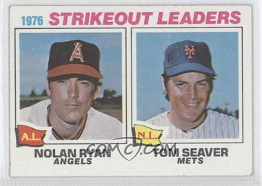 1977 Topps #6 - 1976 Strikeout Leaders (Nolan Ryan, Tom Seaver)