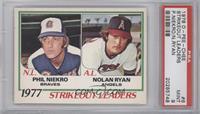 1977 Strikeout Leaders (Phil Niekro, Nolan Ryan) [PSA9]