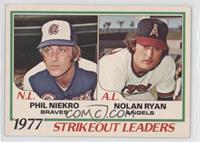 1977 Strikeout Leaders (Phil Niekro, Nolan Ryan) [GoodtoVG‑EX]