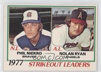 1977 Strikeout Leaders (Phil Niekro, Nolan Ryan)