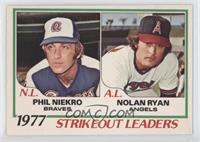 1977 Strikeout Leaders (Phil Niekro, Nolan Ryan)