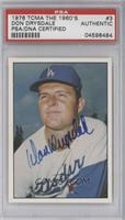 Don Drysdale [PSA/DNA Certified Auto]