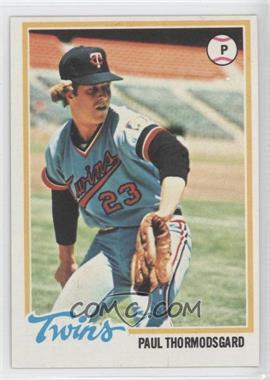 1978 Topps - [Base] #162 - Paul Thormodsgard
