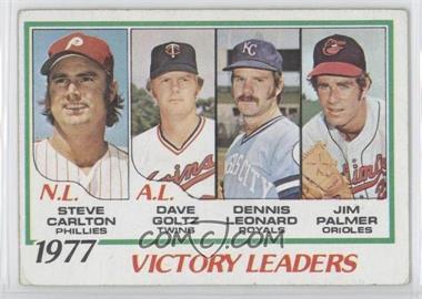 1978 Topps - [Base] #205 - Steve Carlton, Dave Goltz, Dennis Leonard, Jim Palmer