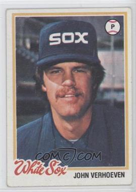 1978 Topps - [Base] #329 - John Verhoeven [GoodtoVG‑EX]