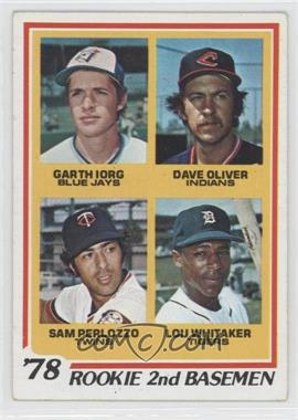 1978 Topps - [Base] #704 - 78' Rookie 2nd Basemen (Garth Iorg, Dave Oliver, Sam Perlozzo, Lou Whitaker) [GoodtoVG‑EX]