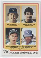 Rookie Shortstops (Paul Molitor, Alan Trammell, Mickey Kluts, U.L. Washington)
