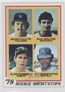 1978 Topps - [Base] #707 - Rookie Shortstops (Paul Molitor, Alan Trammell, Mickey Kluts, U.L. Washington)