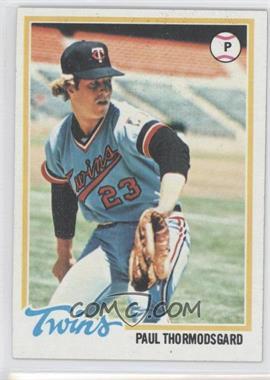 1978 Topps #162 - Paul Thormodsgard