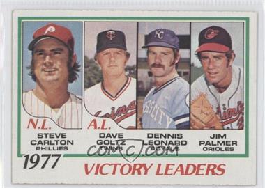 1978 Topps #205 - Steve Carlton, Dave Goltz, Dennis Leonard, Jim Palmer