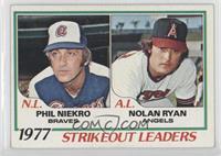 Strikeout Leaders (Phil Niekro, Nolan Ryan) [GoodtoVG‑EX]
