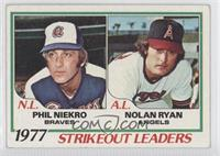 Strikeout Leaders (Phil Niekro, Nolan Ryan) [Good to VG‑EX]