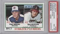 Strikeout Leaders (Phil Niekro, Nolan Ryan) [PSA 8]