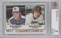 Strikeout Leaders (Phil Niekro, Nolan Ryan) [BVG7]