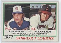 Strikeout Leaders (Phil Niekro, Nolan Ryan)