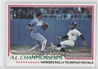 A.L. Championships (Yankees Rally To Defeat Royals)