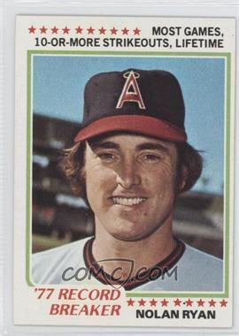 1978 Topps #6 - Nolan Ryan