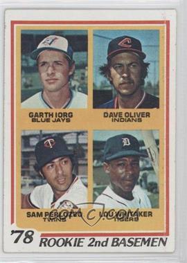 1978 Topps #704 - 78' Rookie 2nd Basemen (Garth Iorg, Dave Oliver, Sam Perlozzo, Lou Whitaker) [GoodtoVG‑EX]