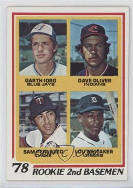 1978 Topps #704 - 78' Rookie 2nd Basemen (Garth Iorg, Dave Oliver, Sam Perlozzo, Lou Whitaker)