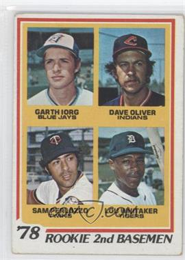 1978 Topps #704 - 78' Rookie 2nd Basemen (Garth Iorg, Dave Oliver, Sam Perlozzo, Lou Whitaker) [Good to VG‑EX]