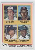 78' Rookie 2nd Basemen (Garth Iorg, Dave Oliver, Sam Perlozzo, Lou Whitaker)