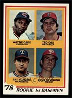 Rookie 1st Basemen (Wayne Cage, Ted Cox, Pat Putnam, Dave Revering) [NM]