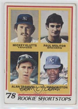 1978 Topps #707 - Rookie Shortstops (Paul Molitor, Alan Trammell, Mickey Kluts, U.L. Washington) [GoodtoVG‑EX]