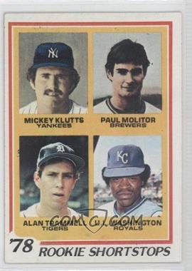 1978 Topps #707 - Rookie Shortstops (Paul Molitor, Alan Trammell, Mickey Kluts, U.L. Washington)