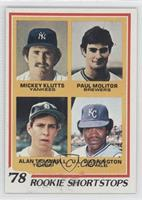 Rookie Shortstops (Paul Molitor, Alan Trammell, Mickey Kluts, U.L. Washington)