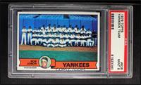 New York Yankees Team Checklist (Bob Lemon) [PSA9]