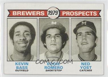 1979 Topps - [Base] #708 - Brewers Prospects (Kevin Bass, Eddie Romero, Ned Yost)