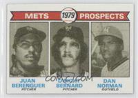 Mets Prospects (Juan Berenguer, Dwight Bernard, Dan Norman) [Goodto…