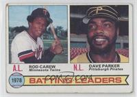 Batting Leaders (Rod Carew, Dave Parker) [Good to VG‑EX]