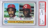 Home Run Leaders (Jim Rice, George Foster) [PSA 4]