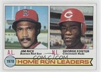 Home Run Leaders (Jim Rice, George Foster) [GoodtoVG‑EX]