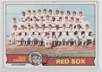 Don Zimmer, Boston Red Sox Team [GoodtoVG‑EX]